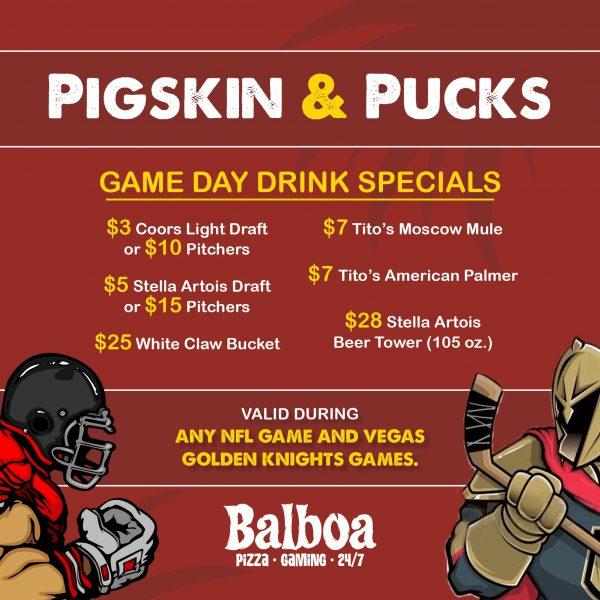Pigskin & Pucks offer